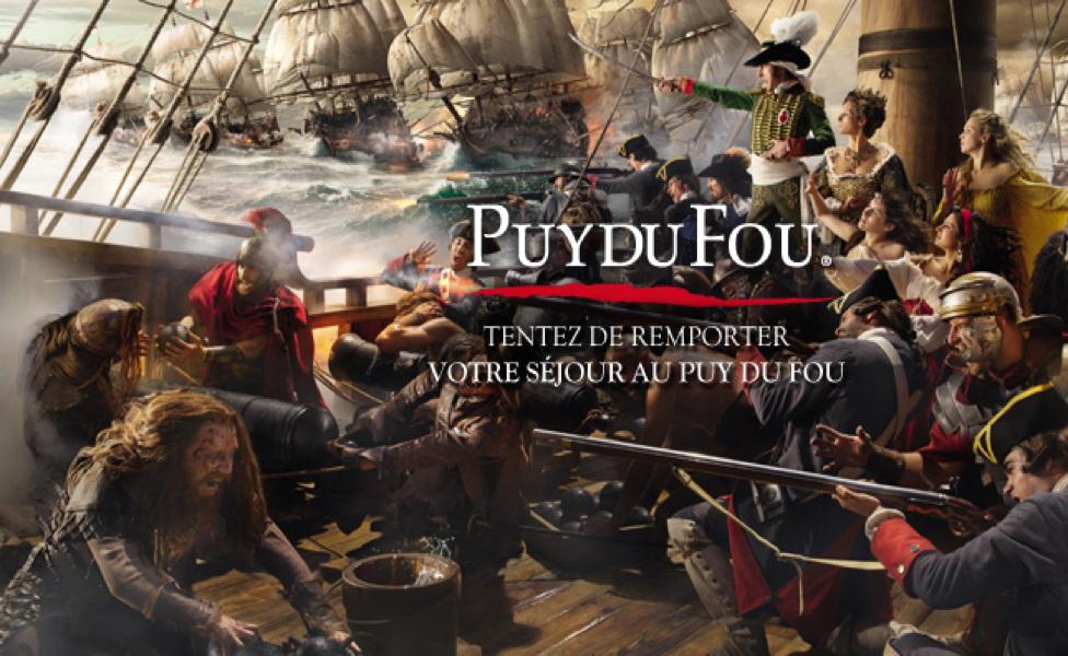 Jeu concours – séjours au Puy du Fou à gagner