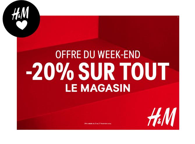 Offre Black Friday chez H&M