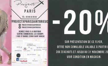 -20% chez Project X Paris