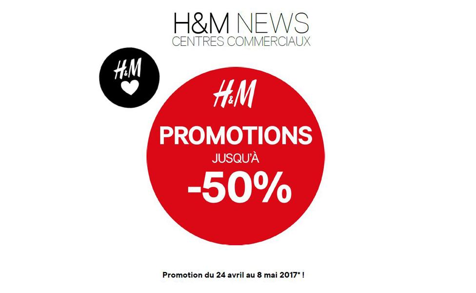 H&M – Promotions jusqu'à -50%