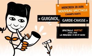 """Mercredi 28 juin, retrouvez Guignol pour son spectacle """"Garde-Chasse"""" dans votre centre commercial les Champs ..."""