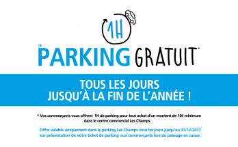 1 heure de Parking gratuit