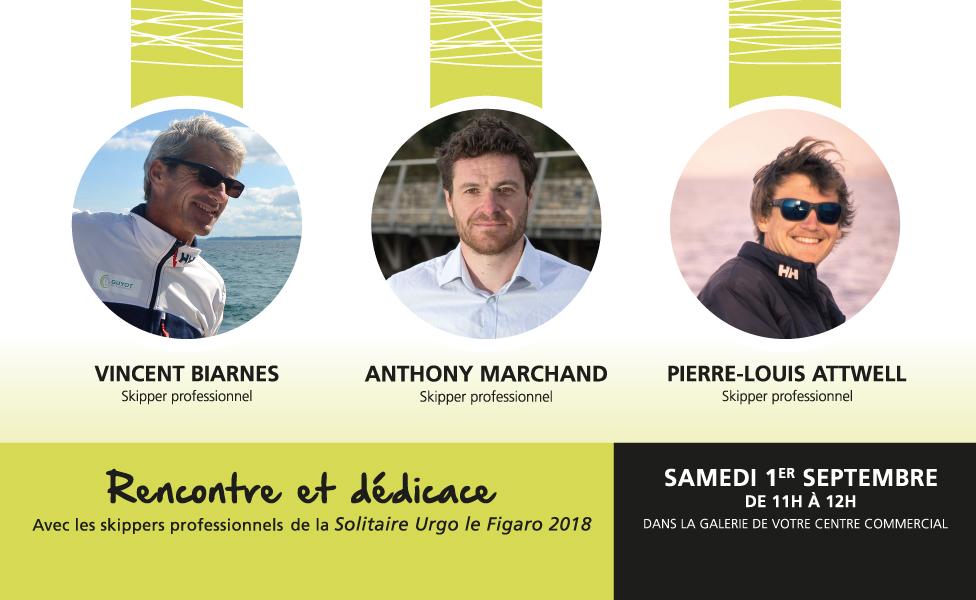 Solitaire Urgo le Figaro 2018, rencontre dédicace des skippers !