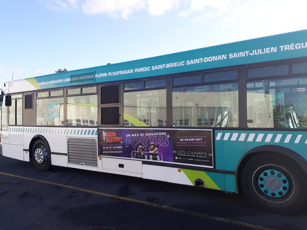 flan de bus- affichage campagne Roller Blaster